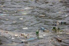 Missing five months for Olympics the Guanabara Bay waters are rotten Stock Photos
