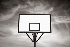 Missing goal. Empty basket board. Concepts: No goals, no objectives.Black and white Royalty Free Stock Images
