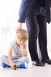 Missing his busy father. Royalty Free Stock Photography