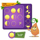 Missing item circle. Educational game for kids. development of logic, iq. Task game  find the missing item Stock Photos