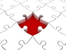 Missing Jigsaw Piece Royalty Free Stock Photography