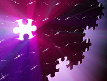 Missing Jigsaw Piece Light Royalty Free Stock Images