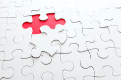 Missing jigsaw piece Royalty Free Stock Images