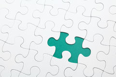 Missing Jigsaw puzzle. In cyan Vector Illustration