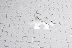 Missing jigsaw puzzle piece Stock Photo