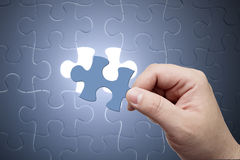 Missing jigsaw puzzle piece Royalty Free Stock Images