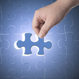 Missing jigsaw puzzle piece Royalty Free Stock Photos