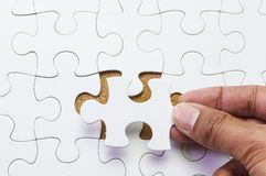 Missing jigsaw puzzle piece Royalty Free Stock Photo