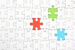 Missing jigsaw puzzle pieces. Business concept Stock Photos