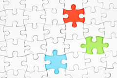 Missing jigsaw puzzle pieces. Business concept. Compliting final task. Missing jigsaw puzzle pieces. Business concept. Compliting final puzzle task Stock Photos