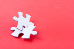 Missing jigsaw puzzle pieces. Business concept. Compliting final task Stock Image
