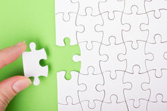 Missing jigsaw puzzle pieces. Business concept. Compliting final task. Missing jigsaw puzzle pieces. Business concept. Compliting final puzzle task Stock Illustration