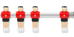 Missing kicker figure. 3d generated picture of a missing red kicker figure Stock Photo