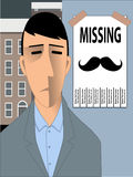 Missing Movember Mustache Stock Photos