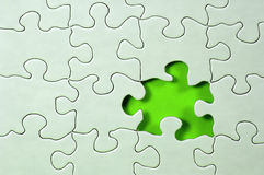 Missing Piece stock image