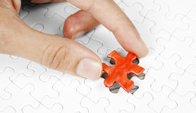 Missing piece. Of a puzzle game Royalty Free Stock Photos
