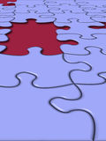 Missing piece. Puzzle's Missing Piece stock illustration