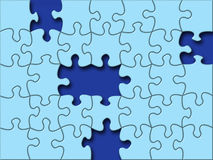 Missing piece. Puzzle's Missing Piece vector illustration