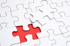 The Missing Piece. Jigsaw puzzle with a missing piece Royalty Free Stock Images