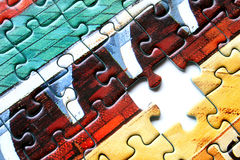 Missing piece. A  missing piece in a jigsaw puzzle Stock Photo