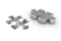 Missing Piece. 3D render of a missing jigsaw puzzle piece Royalty Free Stock Images