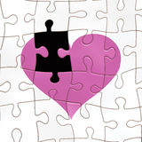 Missing a piece of the heart Royalty Free Stock Image