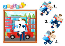 Missing piece of jigsaw of businessman. Illustration Stock Photography