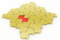 Missing piece - jigsaw Stock Photos