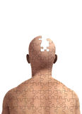 Missing Piece Of Mind. Concept image about memory loss and alzheimers Royalty Free Stock Photo