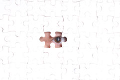 Missing Piece Of The Puzzle Royalty Free Stock Images