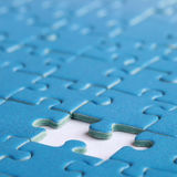 The missing piece in a puzzle Stock Photography
