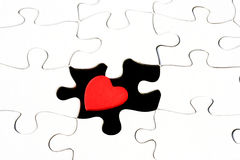 Missing Piece of the Puzzle. Heart in puzzle Stock Photos