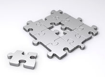 Missing piece of puzzle Royalty Free Stock Images