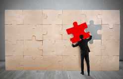 Missing piece of a puzzle Stock Photo
