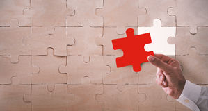 Missing piece of a puzzle Royalty Free Stock Photos