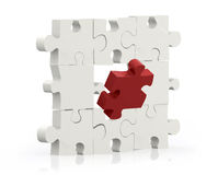 Missing piece of a puzzle Stock Photography