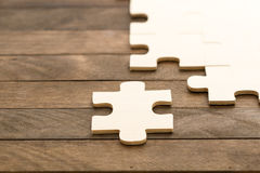 Missing a Piece of Puzzle Royalty Free Stock Photos