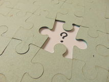 Missing piece of a puzzle Royalty Free Stock Image