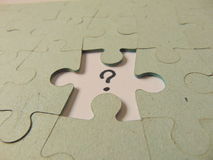 Missing piece of a puzzle Royalty Free Stock Photography