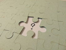 Missing piece of a puzzle Royalty Free Stock Images
