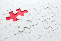 Missing piece in red color Stock Photography