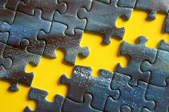 Missing pieces. In a jigsaw puzzle Stock Images