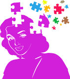 Missing Pieces Mental Puzzle Royalty Free Stock Photos