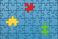 Missing pieces in a puzzle Royalty Free Stock Photos