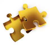 Missing puzzle. 3d illustration on white background Stock Photo