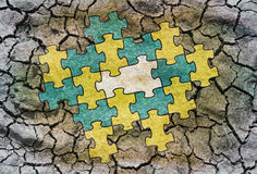 Missing puzzle part Royalty Free Stock Images