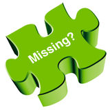 Missing puzzle piece vector illustration