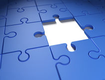 Missing puzzle piece Royalty Free Stock Images