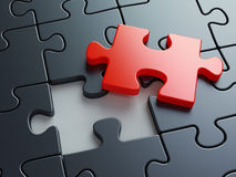 Missing puzzle piece. Business creativity, teamwork and solution concept Stock Image