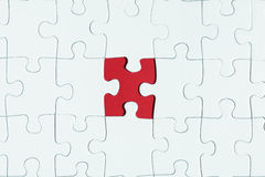 Missing puzzle piece Stock Images